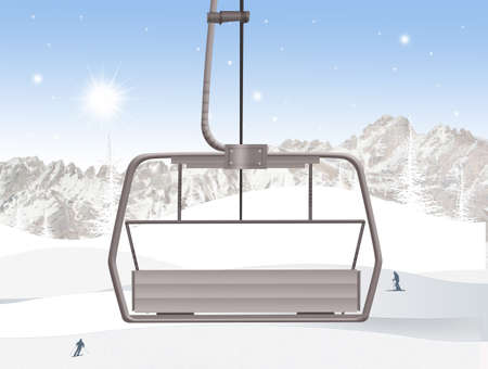 illustration of ski lift 版權商用圖片 - 87668160