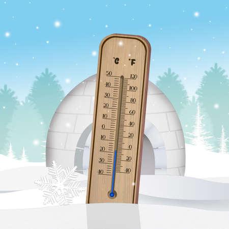 koude thermometer Stockfoto