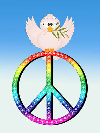 dove with peace sign