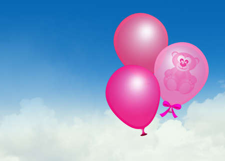 pink balloons for baby female