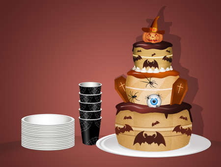 Halloween cake for party