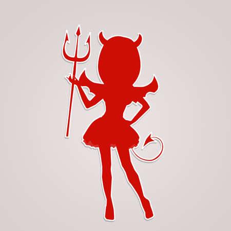 Devil silhouette icon Фото со стока