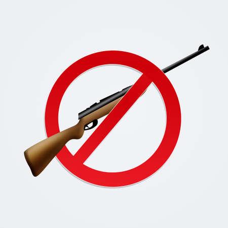 hunting prohibition icon