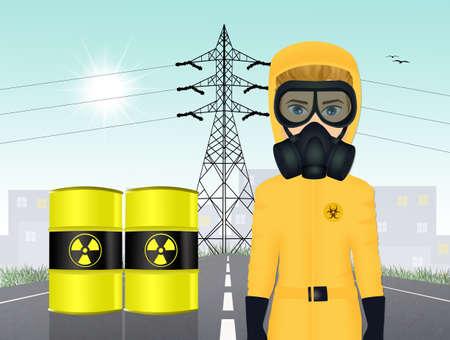 man with a gas mask Фото со стока