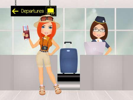 搭乗空港スーツケース