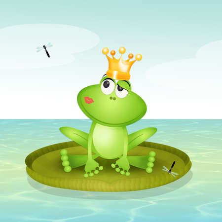 prince frog on waterlily