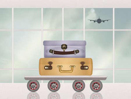 荷物出発空港 写真素材
