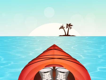 illustration of a kayak