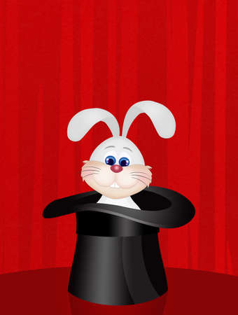 bunny in the magician hat