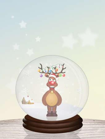 Boule de cristal de Noël