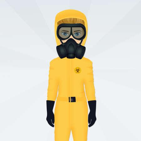 man with a gas mask Banco de Imagens