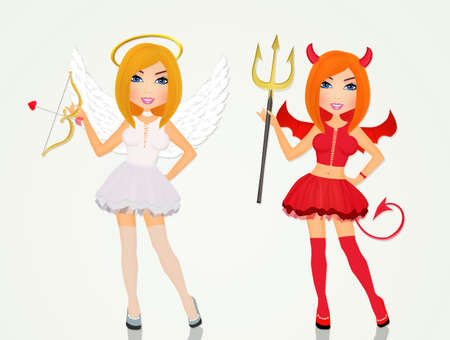 angel and devil girl