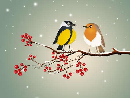 birds on braches