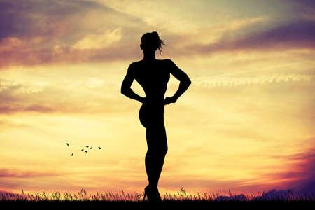 bodybuilder girl Banque d'images