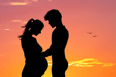 the couple will have a baby Banco de Imagens