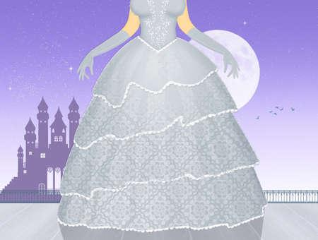 illustration of princess dress