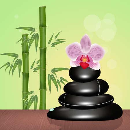 Illustration de pierres zen dans bien-être Banque d'images - 92073191