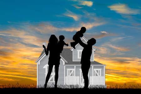 illustration of family home