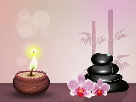 Pierres chaudes pour massage Banque d'images - 91901979