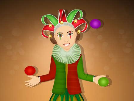 Illustration de drôle joker Banque d'images - 92066613