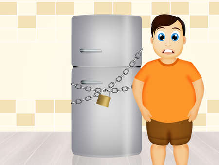 Refrigerator closed for diet