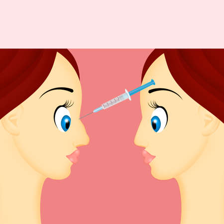 hyaluronic acid injection to correct the nose Stock Photo