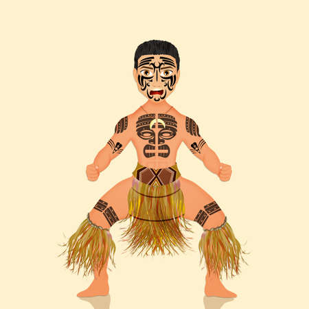 Haka warrior dance