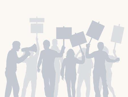 Crowd protestieren