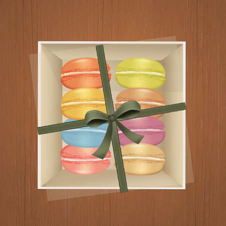 Macarons in the box