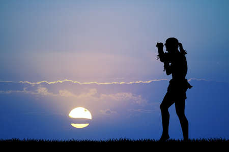 Muay Thai al tramonto Archivio Fotografico - 92534766