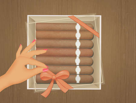 cigars in the box