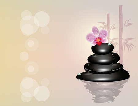 Massage aux pierres de bien-être Banque d'images - 92570466