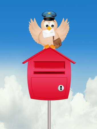 bird postman Banque d'images