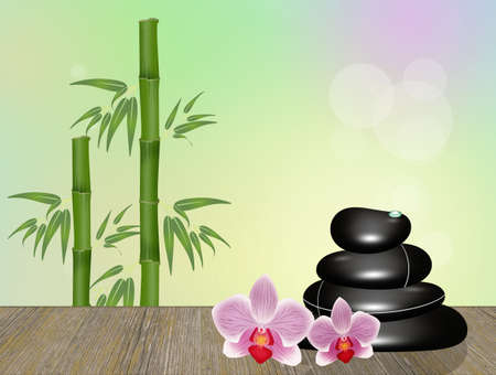 Illustration de pierres pour massage Banque d'images - 93051222