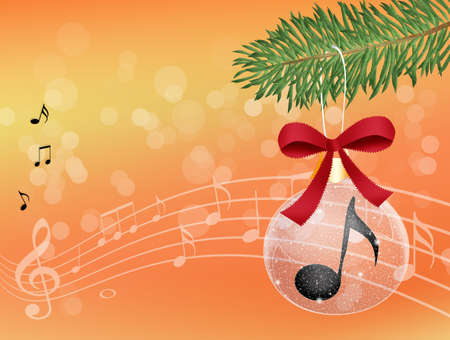 musical note in Christmas ball