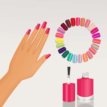 various colors of enamel Stock Photo