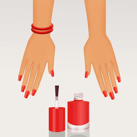 illustration of semi-permanent nail polish