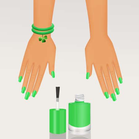 nail polish for St. Patricks Day