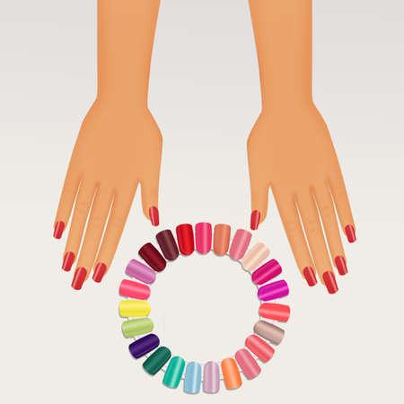 various colors of nail varnish