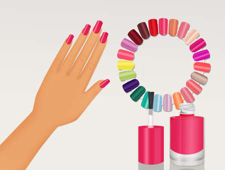 semi permanent nails color glaze