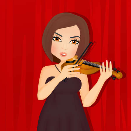 girl plays the violin