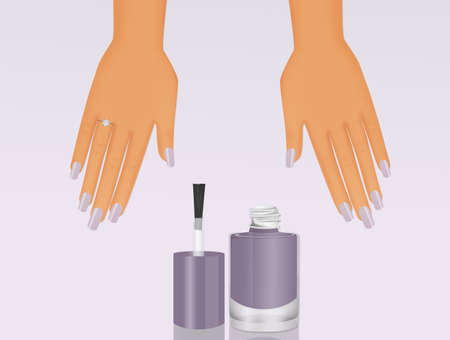 nail polish and manicure for the bride