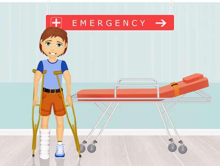 man in the emergency room