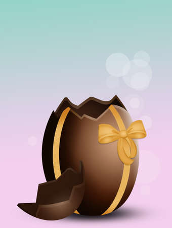 illustration of Easter chocolate egg