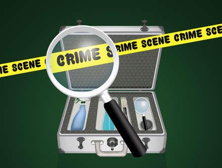 case of the RIS investigators Banque d'images - 95810035