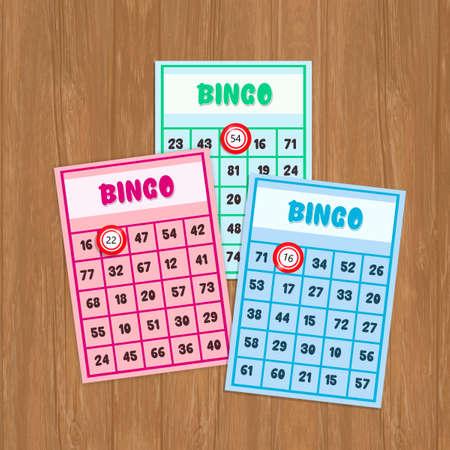 illustration of bingo postcards