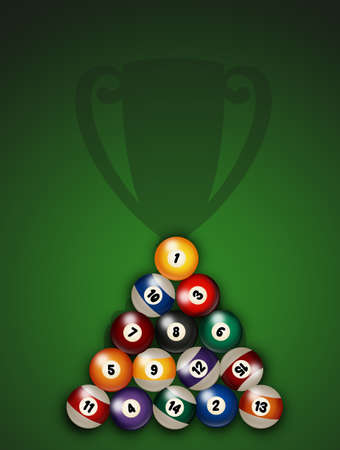illustration of billiards