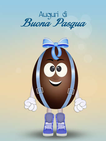 funny illustration for Easter Stock Photo