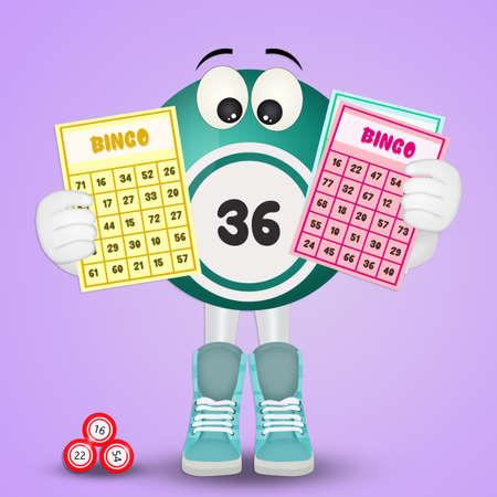 funny illustration of Bingo