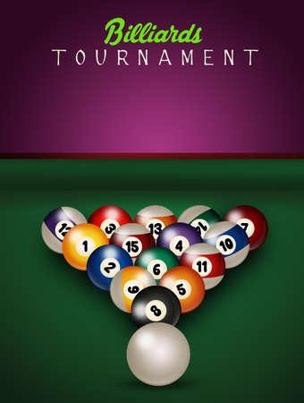 illustration of billiards tournament